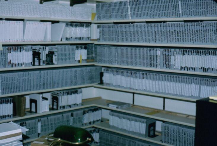 До установки автоматической системы вещания все программы хранились на больших бобинах.