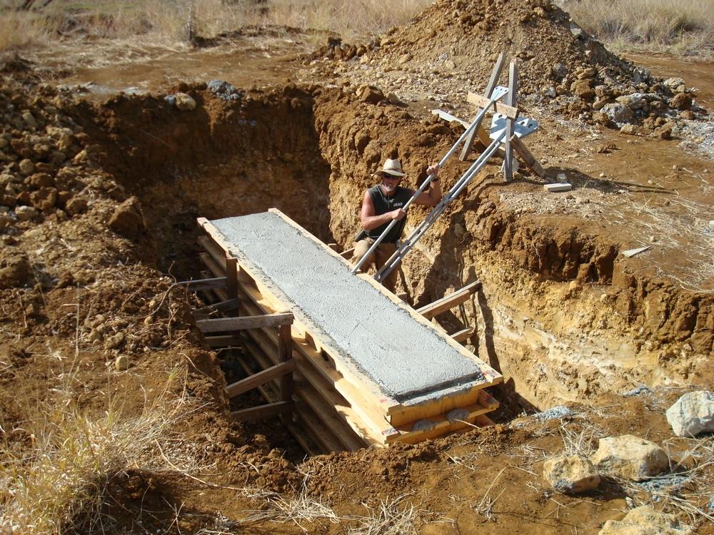 """Изготовление бетонных """"якорей"""" для антенны"""