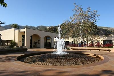 Центральная площадь на кампусе с фонтаном. Для раздумий.
